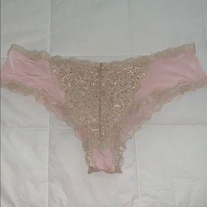 Victoria's Secret Metallic Lace & Crystal Panty